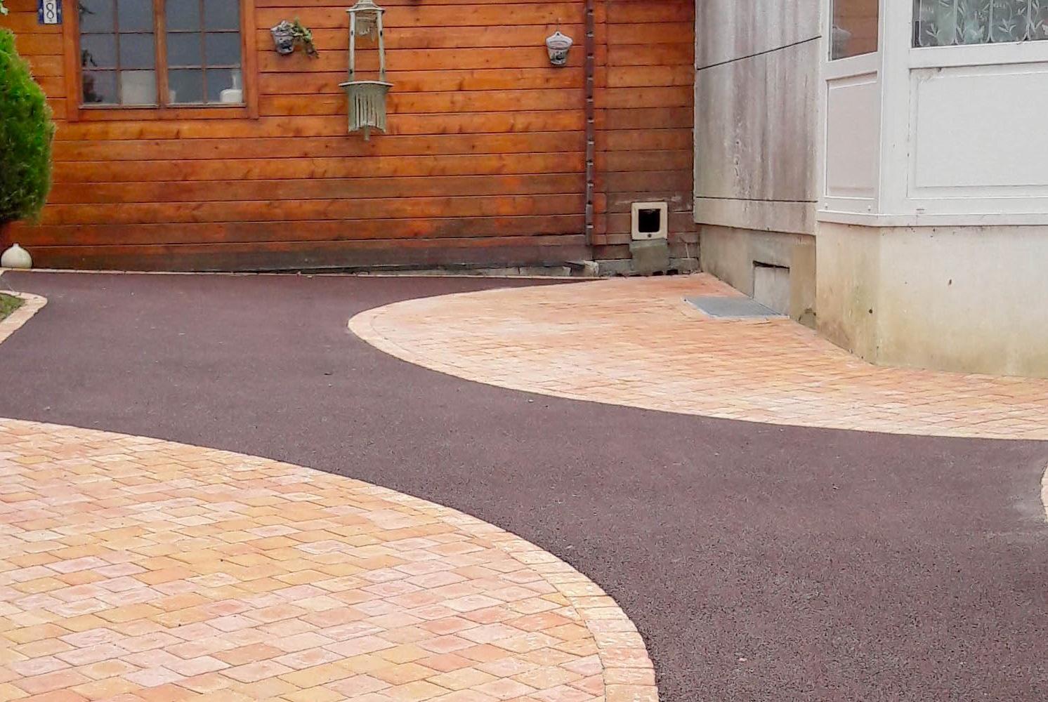 Allee De Garage A Moindre Cout aménagement de cour en enrobé | paysages conseil