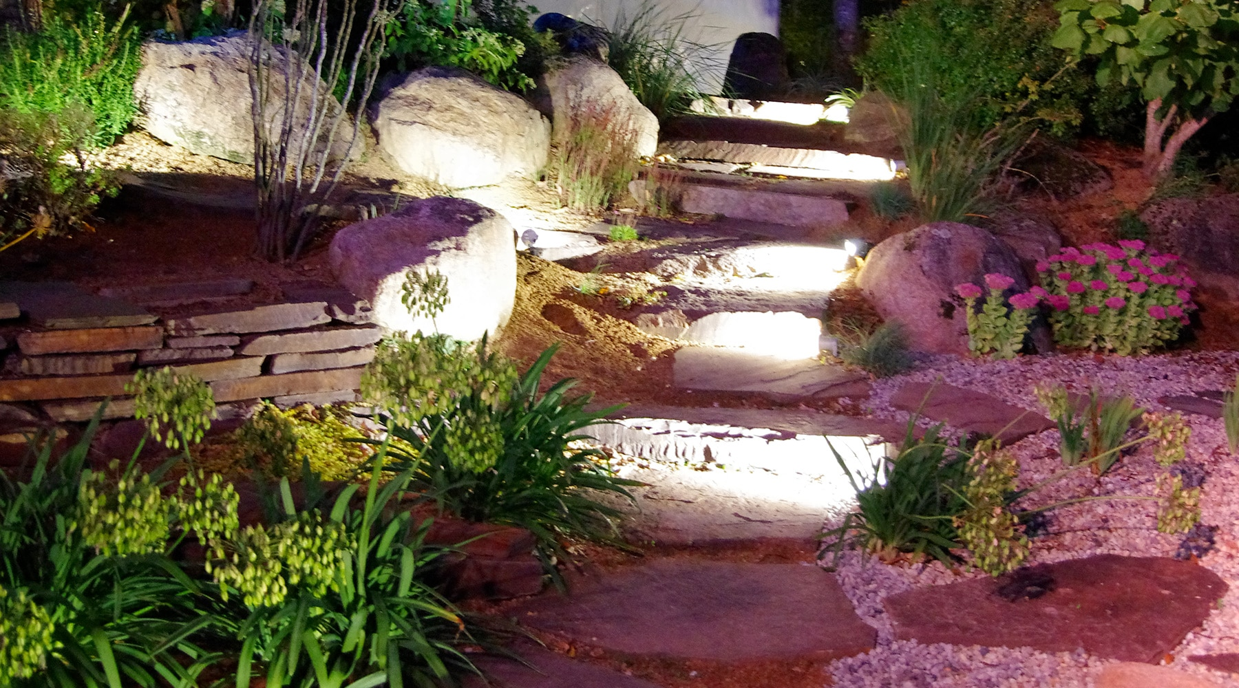 Eclairage De Terrasse Sur Pied eclairage exterieur jardin - eclairage de jardin | paysages