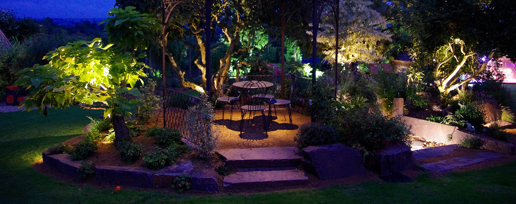 Éclairage extérieur de terrasse