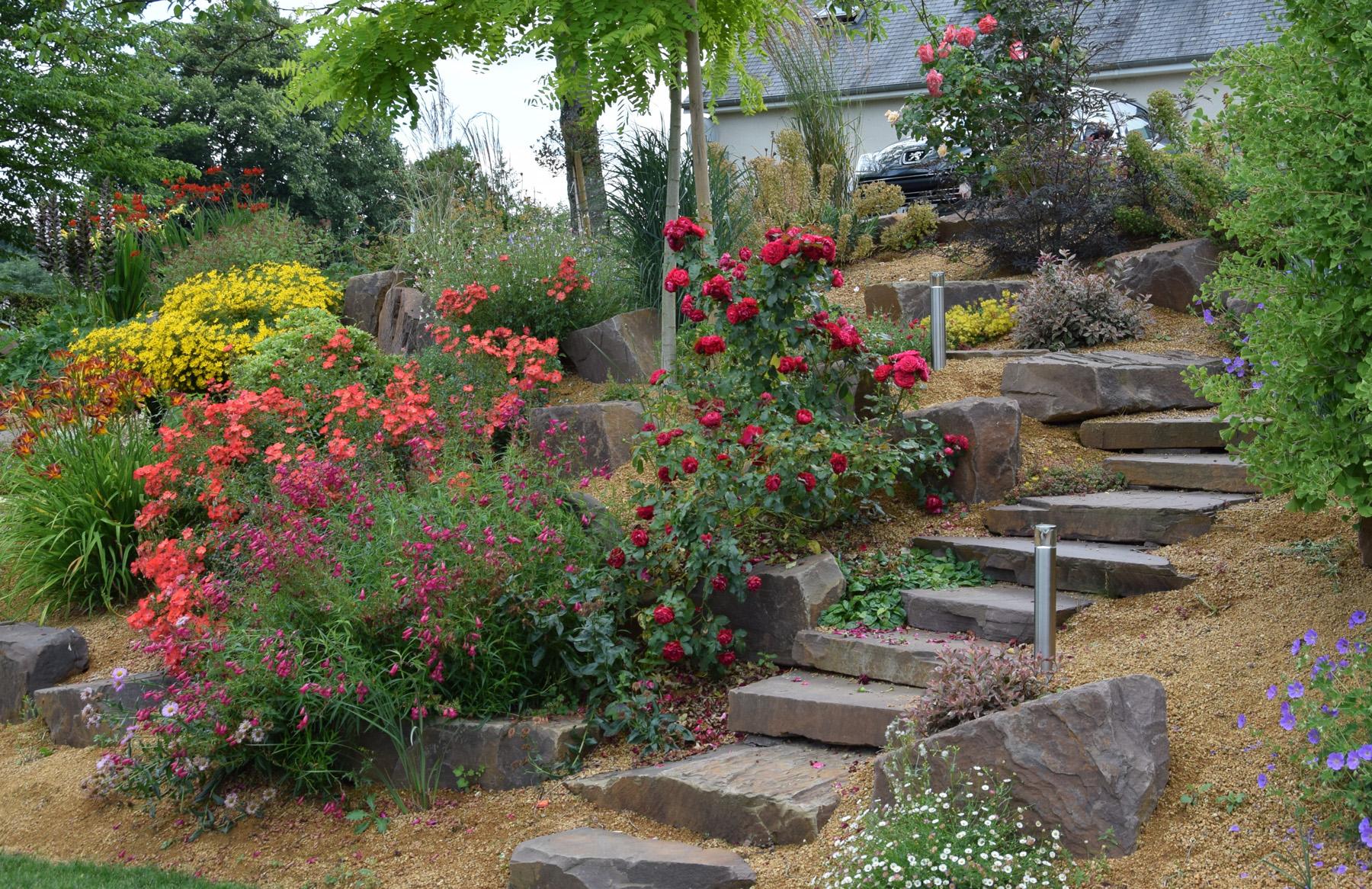 Allee De Jardin En Pente escalier de jardin - aménagement d'escalier extérieur