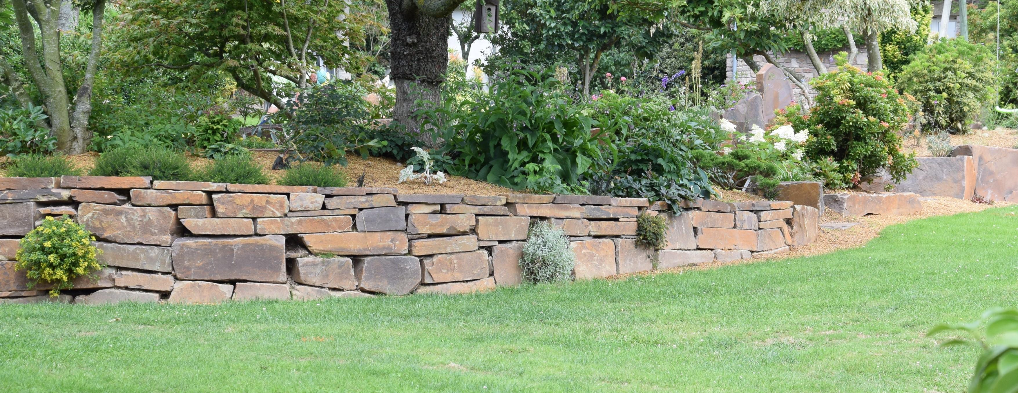Allee De Jardin En Pente soutenement de jardin - mur de soutenement | paysages conseil