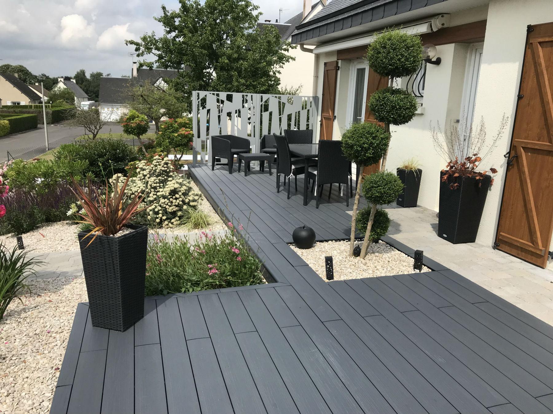 Aménagement de terrasse en résine - Aménagement extérieur ...