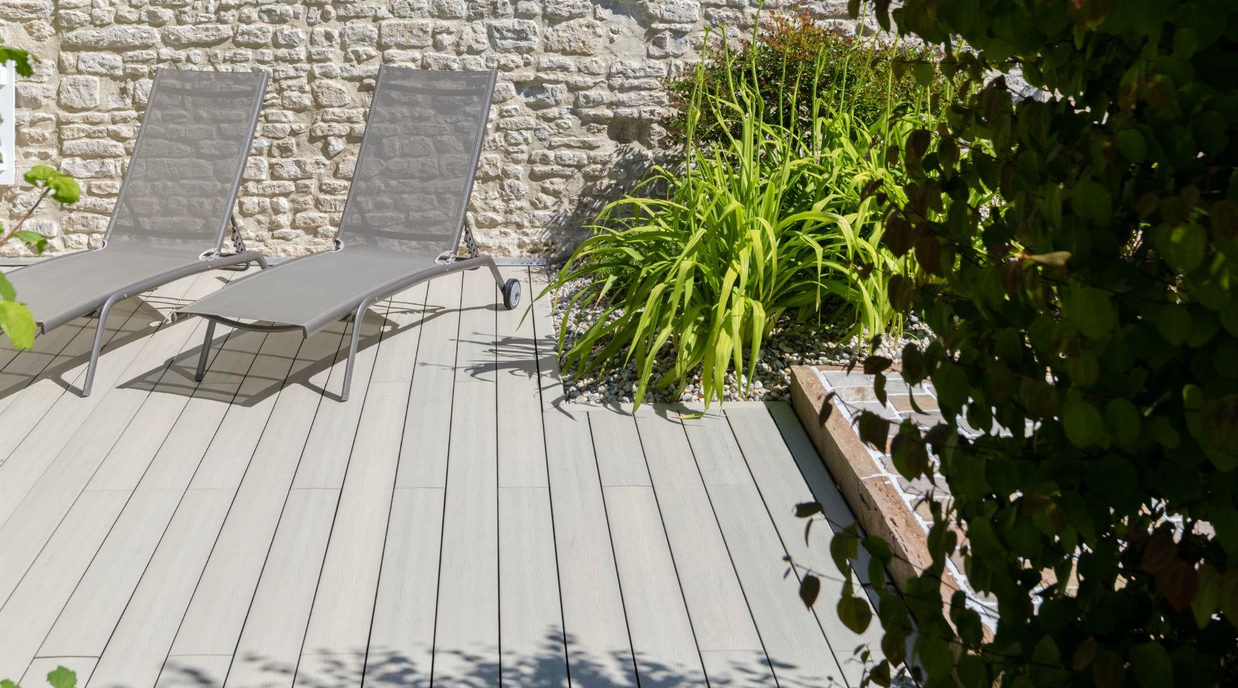 Aménagement de terrasse en résine