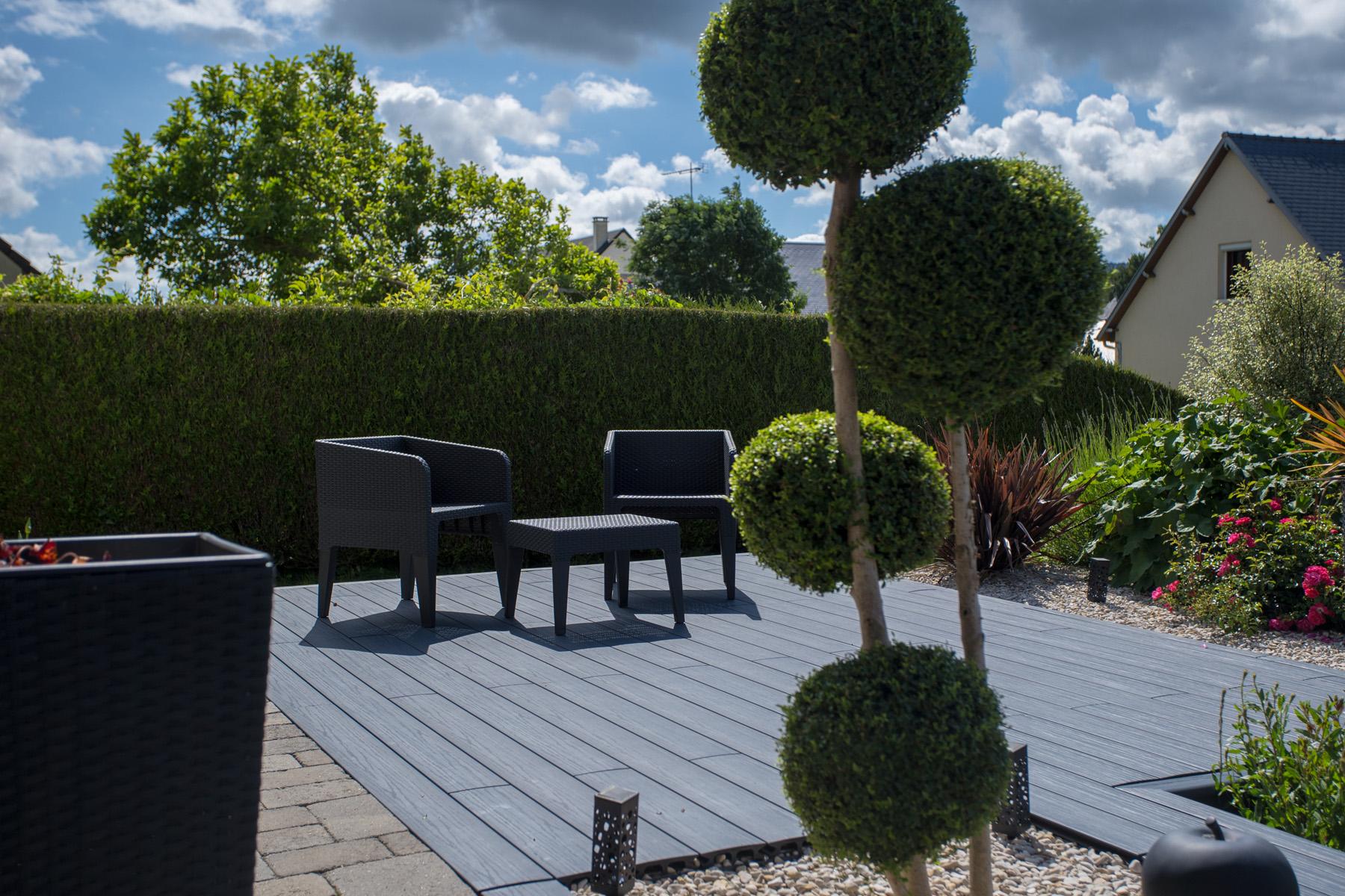 Aménagement de terrasse en résine - Aménagement extérieur | Paysages ...