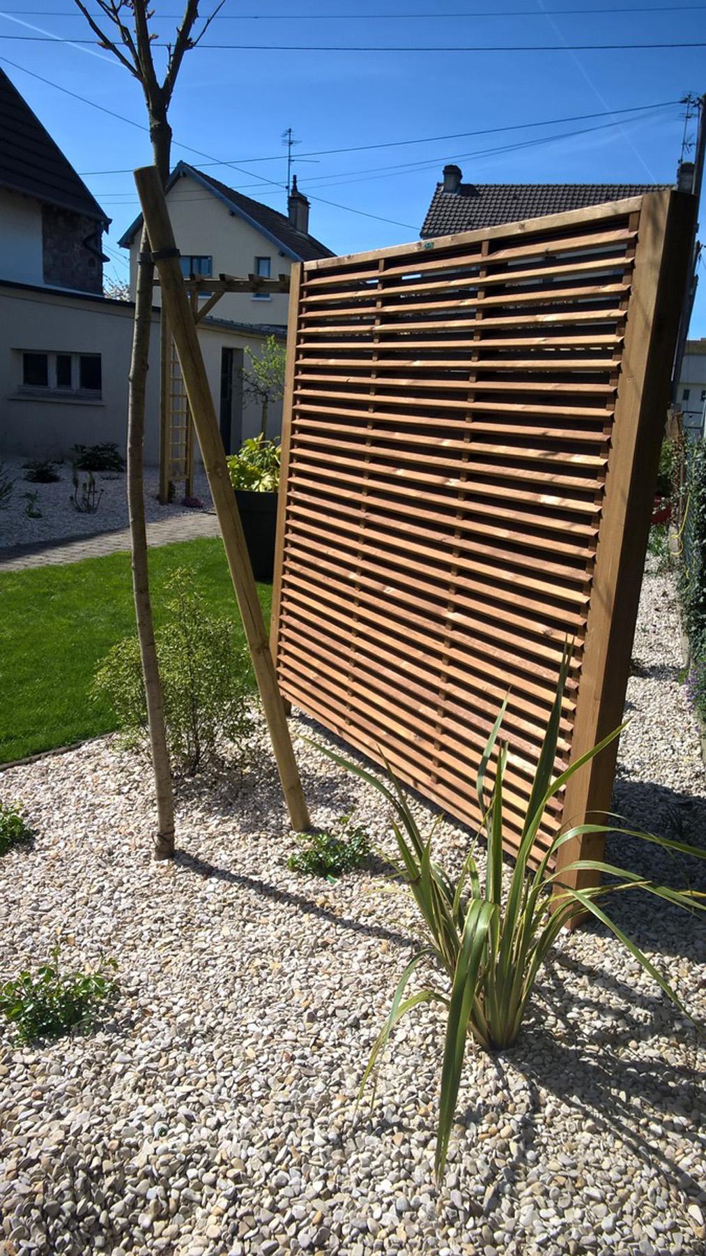 Pare Vue Jardin Bois cloture en bois - pose de cloture bois calvados | paysages
