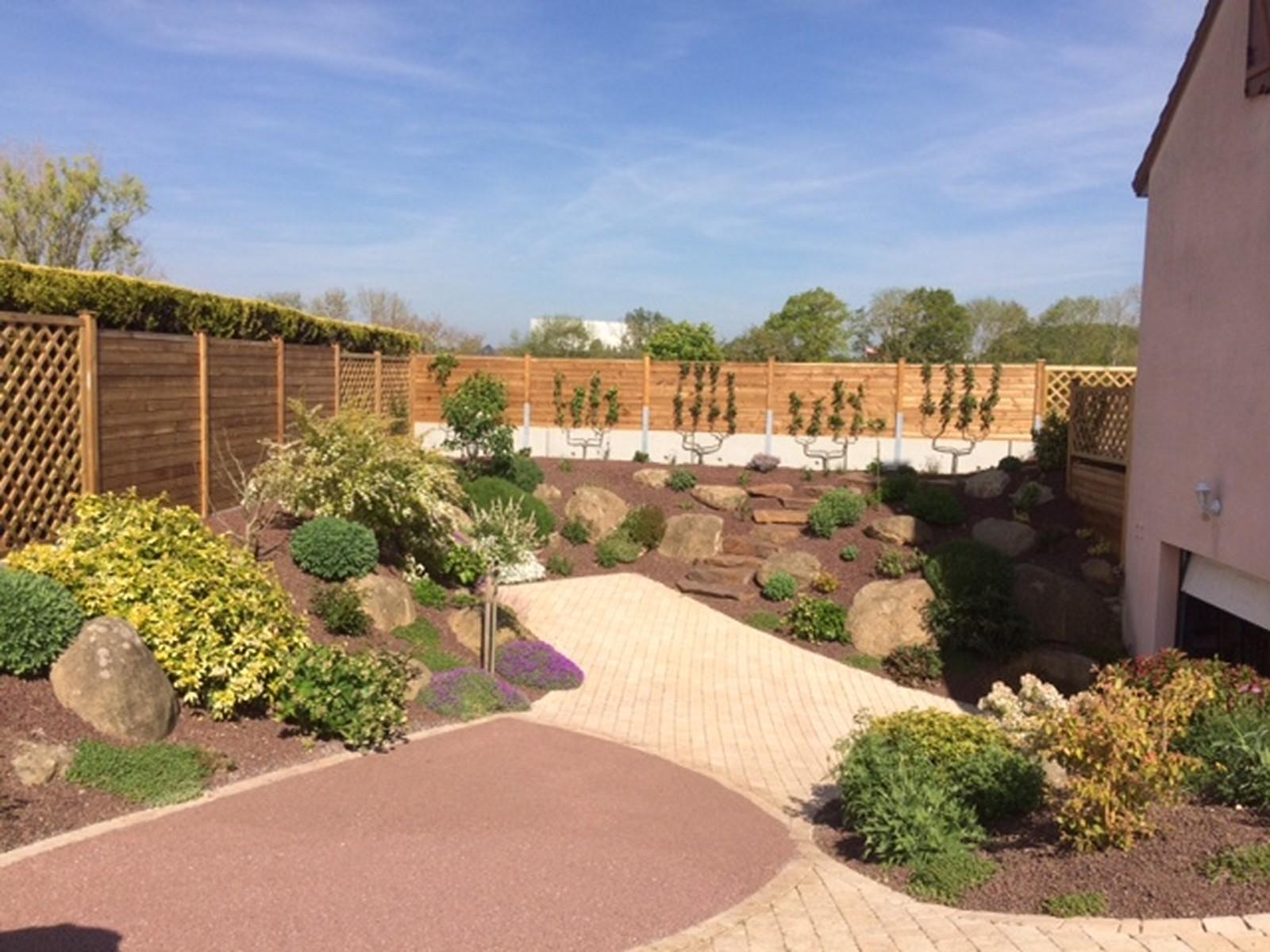 Amenagement Jardin Exterieur Photo réalisation - aménager un jardin à argentan   orne et jardins