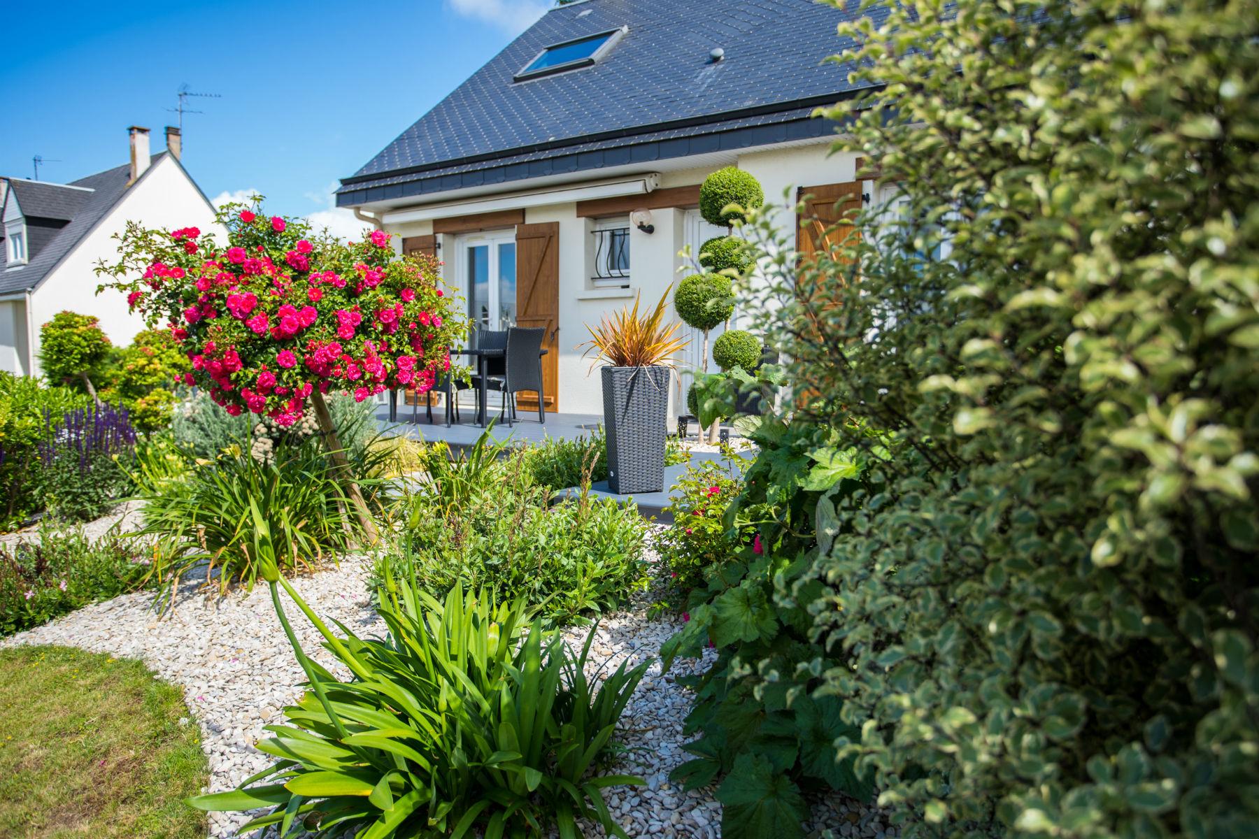 Une terrasse moderne à Vire, Calvados