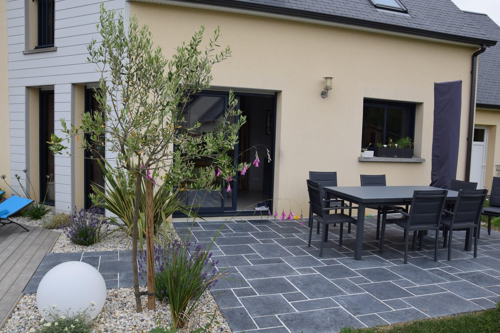 Amenagement Exterieur Terrasse Maison réalisation - aménagement paysager à monceau en bessin